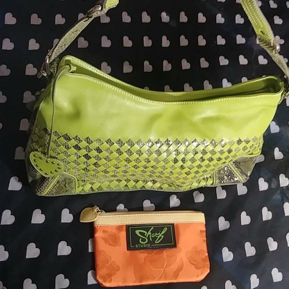 Sharif Studio Leather Shoulder Bag and Pouch